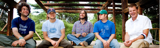 The Ryan Montbleau Band (from left) James Cohen, Ryan Montbleau, Jason Cohen, Matt Giannaros & Laurence Scudder