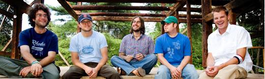 The Ryan Montbleau Band (from left) James Cohen, Ryan Montbleau, Jason Cohen, Matt Giannaros & Laurence Scudder